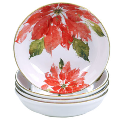 Certified International Winters Plaid 4-pc. Soup Bowl