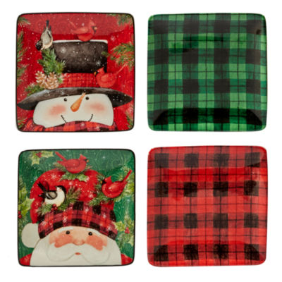 Certified International Winter Lodge 4-pc. Appetizer Plate