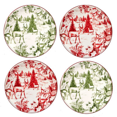 Certified International Winter Field Notes 4-pc. Appetizer Plate