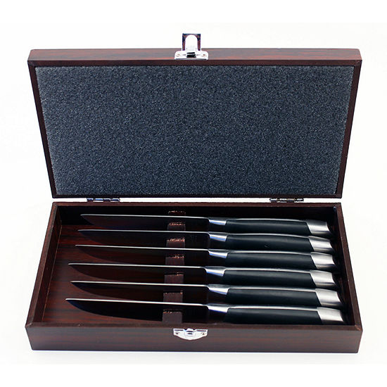 BergHOFF Geminis Steak Set w/ Wooden Case 6pc