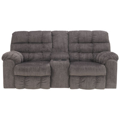Signature Design by Ashley® Lufkin Pad-Arm Reclining Loveseat