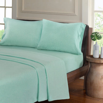 Urban Habitat Heathered Cotton Jersey Knit Easy Care Sheet Set