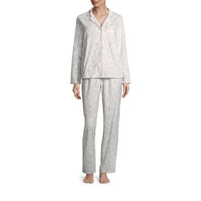 Adonna Microfiber Notch Collar Pajama Set- Tall
