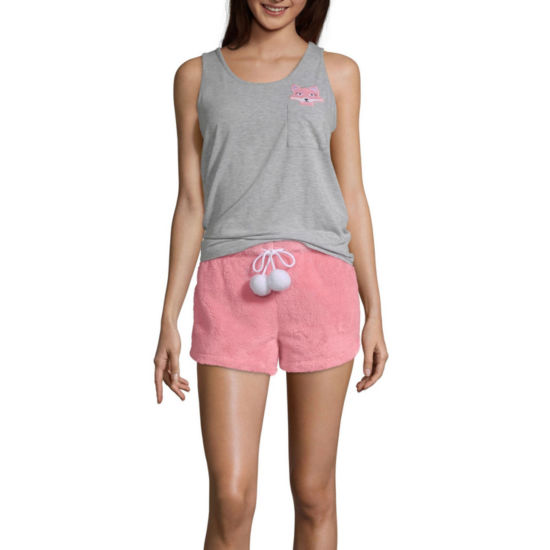 Pj Couture My Furry Friends Shorts Pajama Set-Juniors