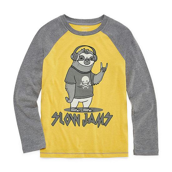 Arizona Boys Round Neck Long Sleeve Graphic T-Shirt