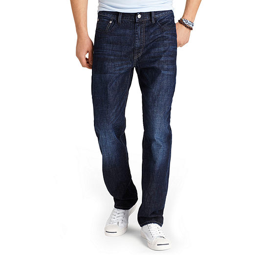 Izod Mens Straight Relaxed Fit Jean Big And Tall
