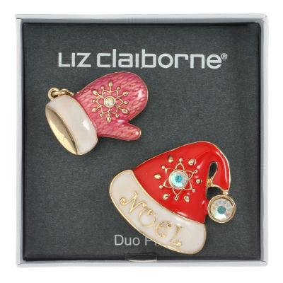 Liz Claiborne White Pin
