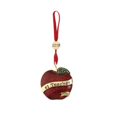 "Liz Claiborne 2018 ""#1 Teacher"" Christmas Ornament"