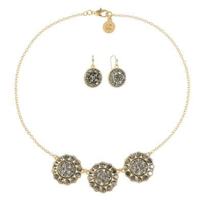 Liz Claiborne Gray Gold Tone 2-pc. Jewelry Set