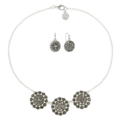 Liz Claiborne Gray Silver Tone 2-pc. Jewelry Set