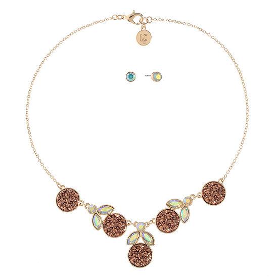 Liz Claiborne Pink Rose Tone 2-pc. Jewelry Set