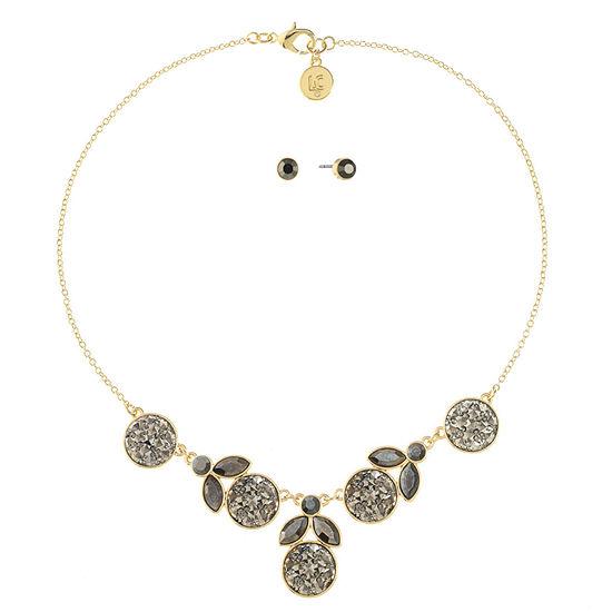 03cd01b14568 Liz Claiborne Gray Gold Tone 2-pc. Jewelry Set - JCPenney