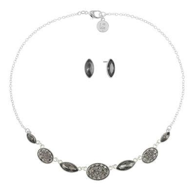 Liz Claiborne Womens Gray Silver Tone 2-pc. Jewelry Set