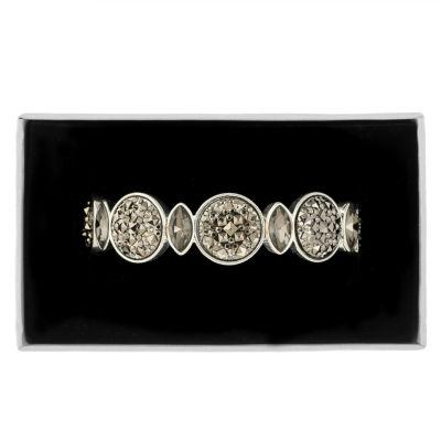 Liz Claiborne Womens Gray Stretch Bracelet