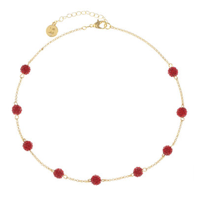 Liz Claiborne Womens Red Collar Necklace