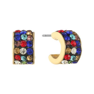Liz Claiborne Multi Color 14mm Hoop Earrings