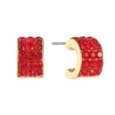 Liz Claiborne Red 14mm Hoop Earrings