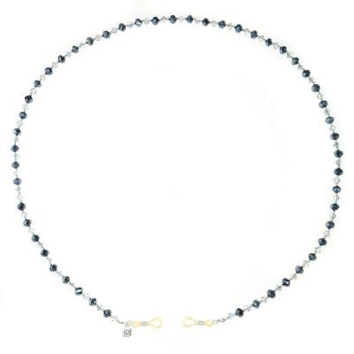 Monet Jewelry Eyeglass Chain Womens Blue Beaded Necklace