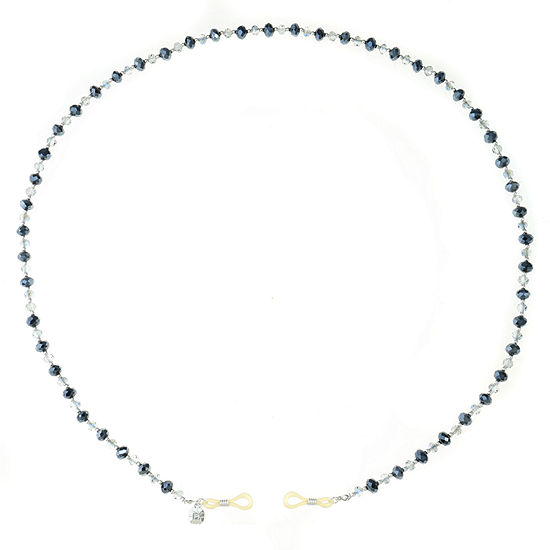 Monet Jewelry Eyeglass Chain Blue 35 Inch Beaded Necklace