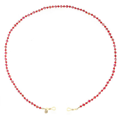 Monet Jewelry Eyeglass Chain Womens Red Beaded Necklace