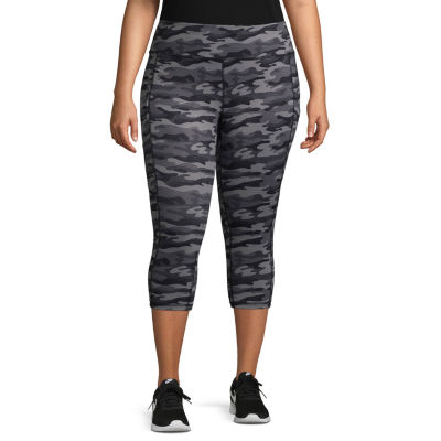 Xersion Knit Camouflage Workout Pants - Plus