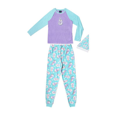 Jelli Fish Kids 3-pc. Pant Pajama Set Girls