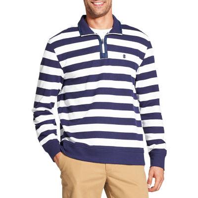 IZOD Long Sleeve Stripe Quarter Zip