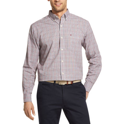 IZOD Mens Long Sleeve Button-Front Shirt