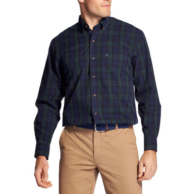IZOD Tartan Long Sleeve Button Down Shirt