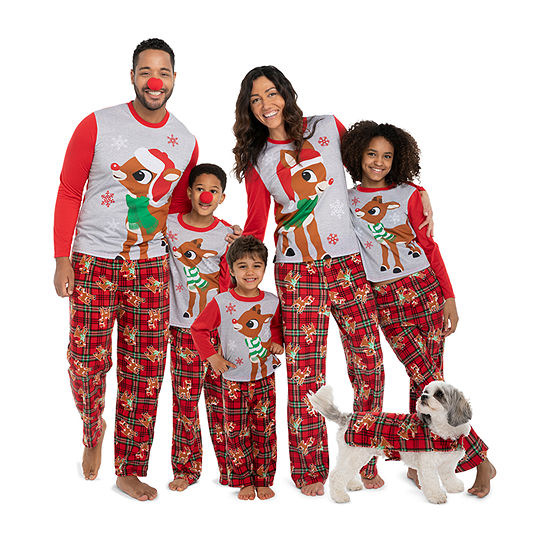 ed4b0b2817 Rudolph The Red Nose Reindeer Family Pajamas - JCPenney