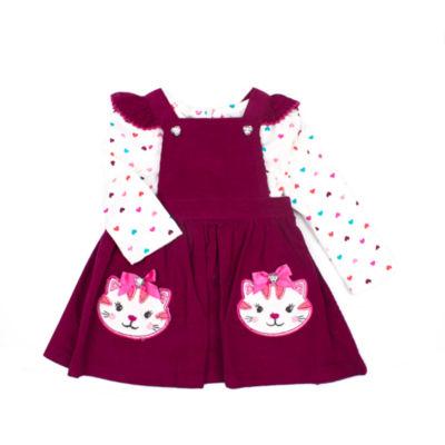 Nanette Baby Long Sleeve Jumper - Toddler Girls