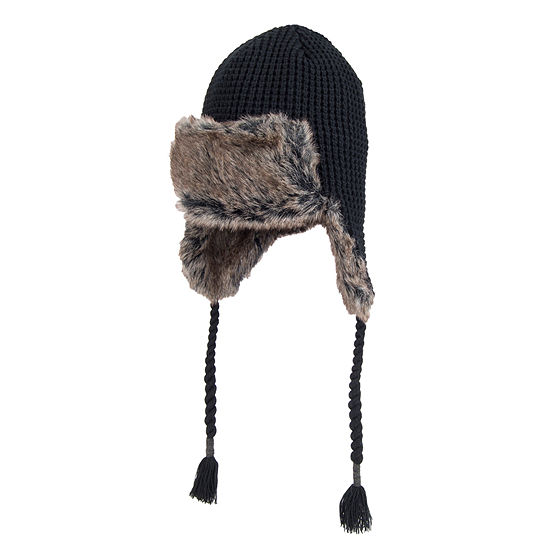 a5d31706e8821a Dockers® Faux Fur Lined Waffle Knit Trapper Hat - JCPenney