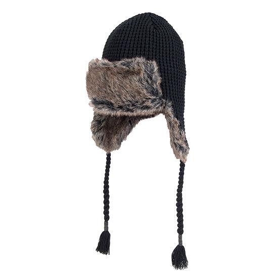 Dockers® Faux Fur Lined Waffle Knit Trapper Hat