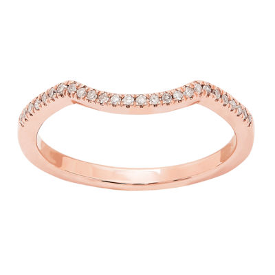 Modern Bride Gemstone Womens Genuine Pink Morganite & 1/6 CT. T.W.  Diamond 10K Rose Gold Bridal Set