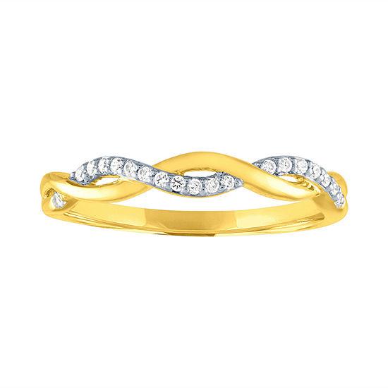 1/10 CT. T.W. Genuine White Diamond 10K Gold Wedding Band