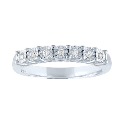 Womens Not Applicable 1/10 CT. T.W. Genuine White Diamond Band