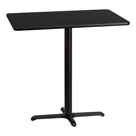 30'' x 42'' Rectangular Laminate Table Top with 22'' x 30'' Bar Height Table Base