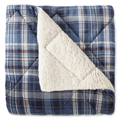 North Pole Trading Co Ultra Faux Mink Sherpa Throw (Multiple Colors)