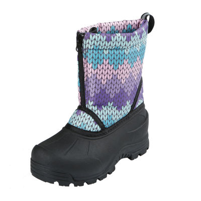 Northside Little Kid/Big Kid Girls Icicle Fleece Lined Insulated Snow Boots Zip