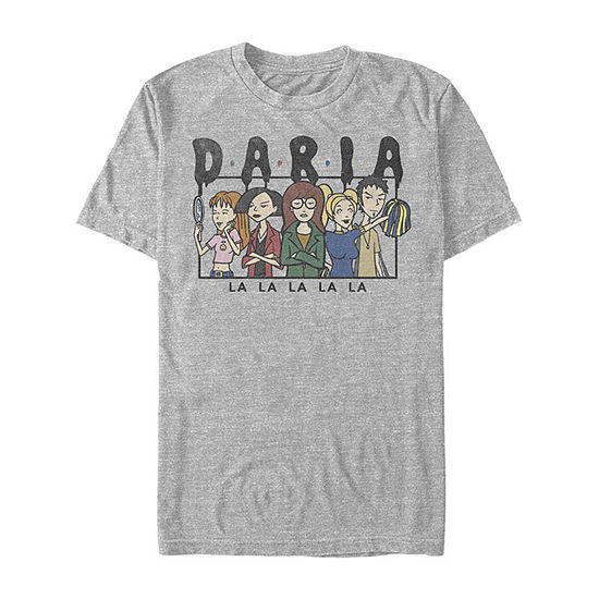 Daria La La La Group Shot Mens Crew Neck Short Sleeve Graphic T-Shirt
