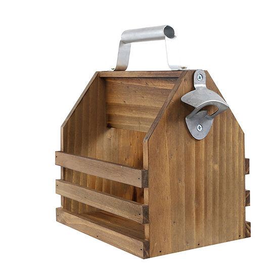 Hammer + Axe™ Wooden Bottle Caddy