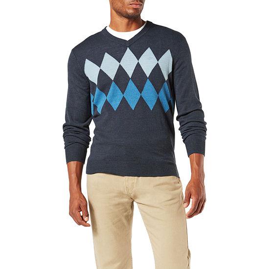 Dockers Soft Acrylic V Neck Long Sleeve Pullover Sweater