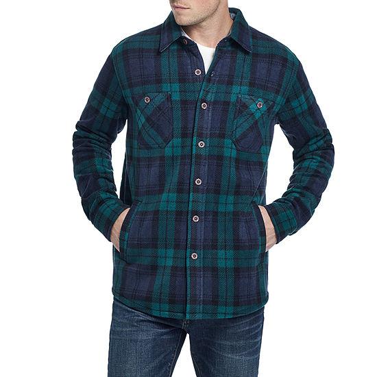 American Threads Sherpa Lined Polar Fleece Midweight Shirt Jacket