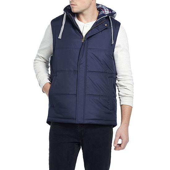 American Threads Hooded Puffer Mens Vest