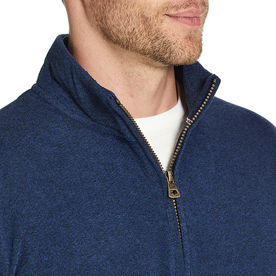 American Threads Micro Fleece Mens Long Sleeve Quarter-Zip Pullover
