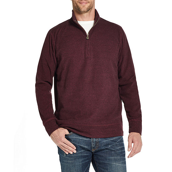 American Threads Micro Fleece Mens Long Sleeve Quarter-Zip Pullover