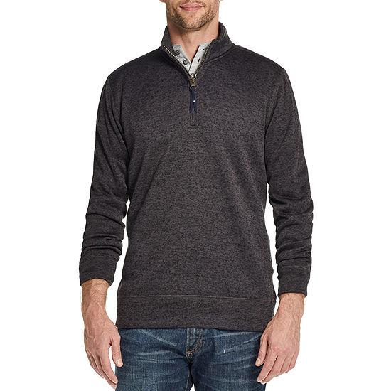 American Threads Sweater Fleece Mens Long Sleeve Quarter-Zip Pullover