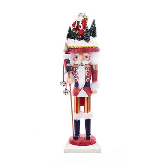 Kurt Adler 18-Inch Hollywood Santa Sled Hat Nutcracker