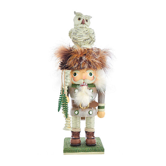 Kurt Adler 15-Inch Hollywood™ Woodsman  With White Owl Christmas Nutcracker