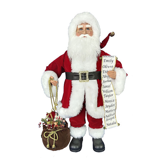 Kurt Adler 34-Inch Kringle Klaus Traditional  And List Santa Figurine